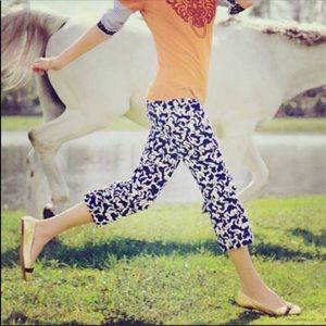 Lilly Pulitzer Horse of Course Corduroy Capris